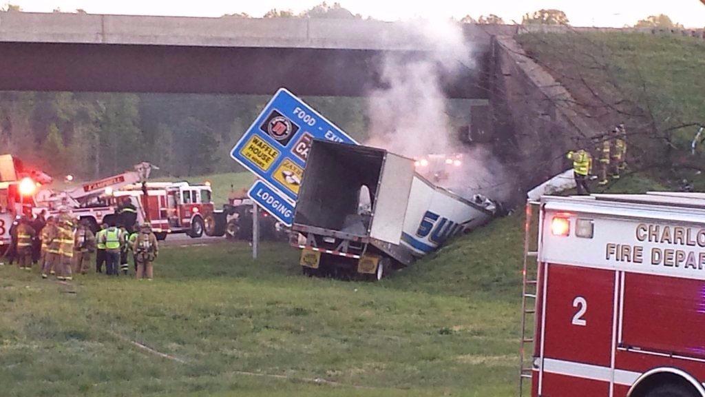 metro atlanta truck driver dies in charlotte wreck. Black Bedroom Furniture Sets. Home Design Ideas