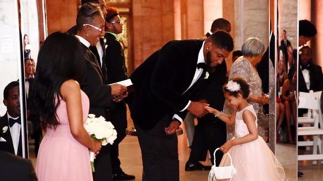 nfl player devon still gets married, but brave daughter steals the show