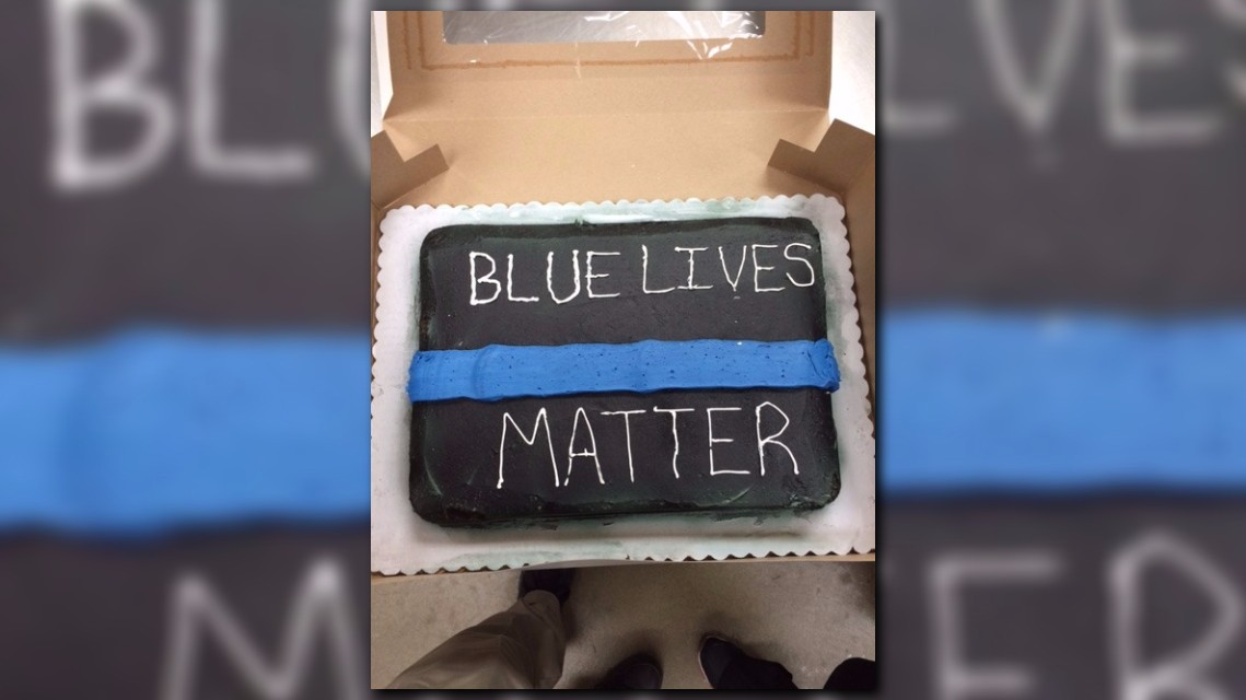 Blue Lives Matter Cake At Walmart