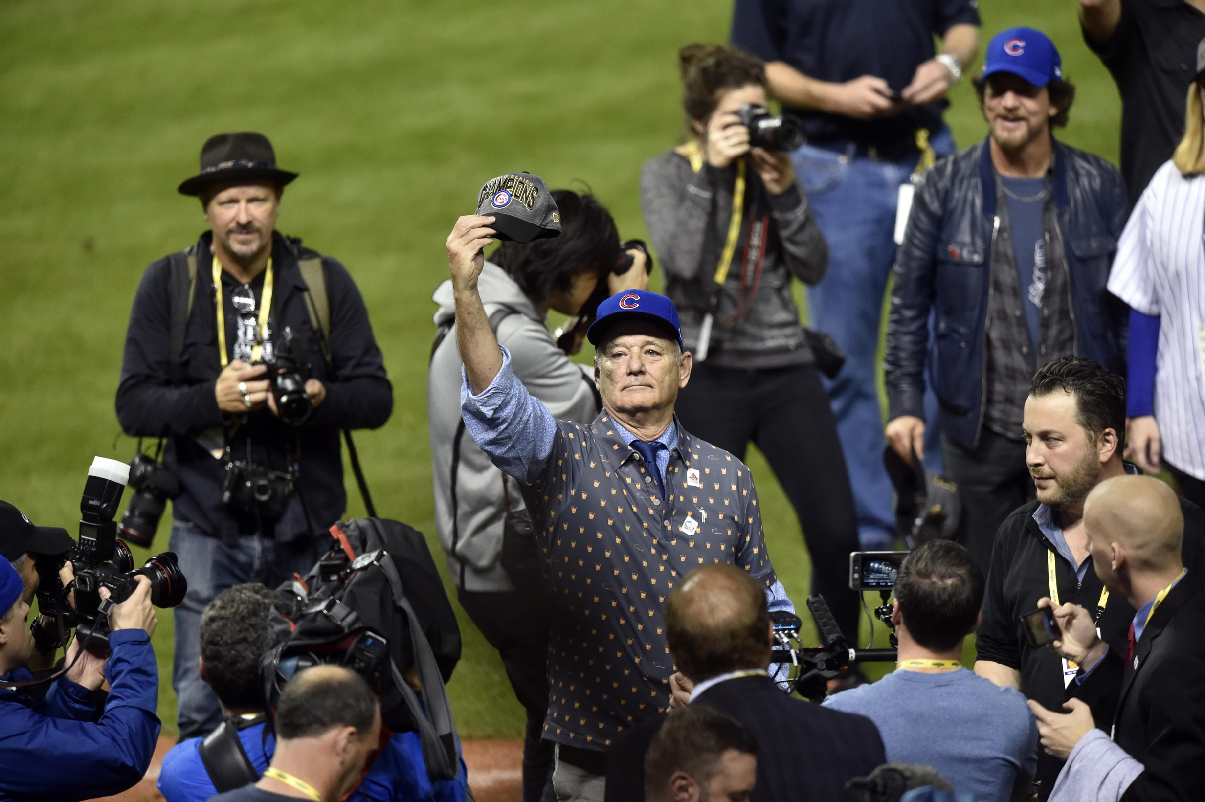 418d350baed Bill Murray celebrating the Cubs  World Series win is...everything ...