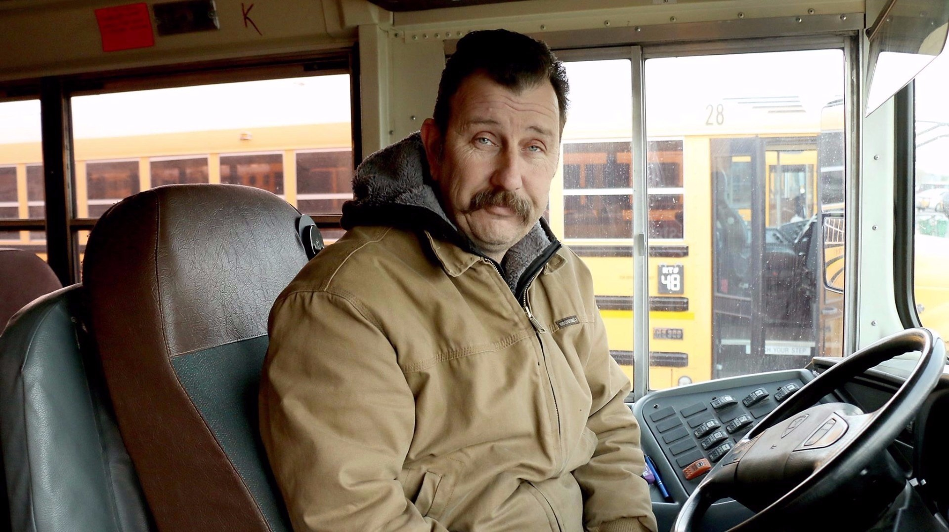 School bus driver buys hats and gloves for students in need