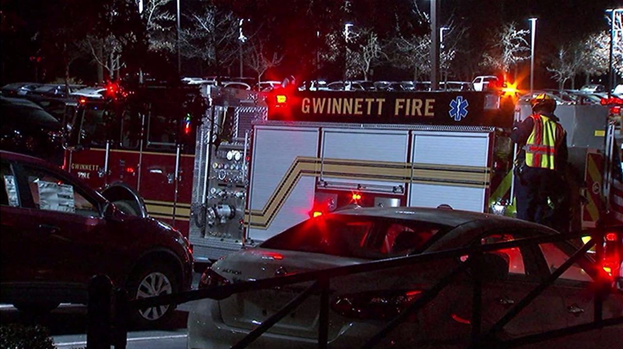 car catches fire at gwinnett nissan dealership. Black Bedroom Furniture Sets. Home Design Ideas
