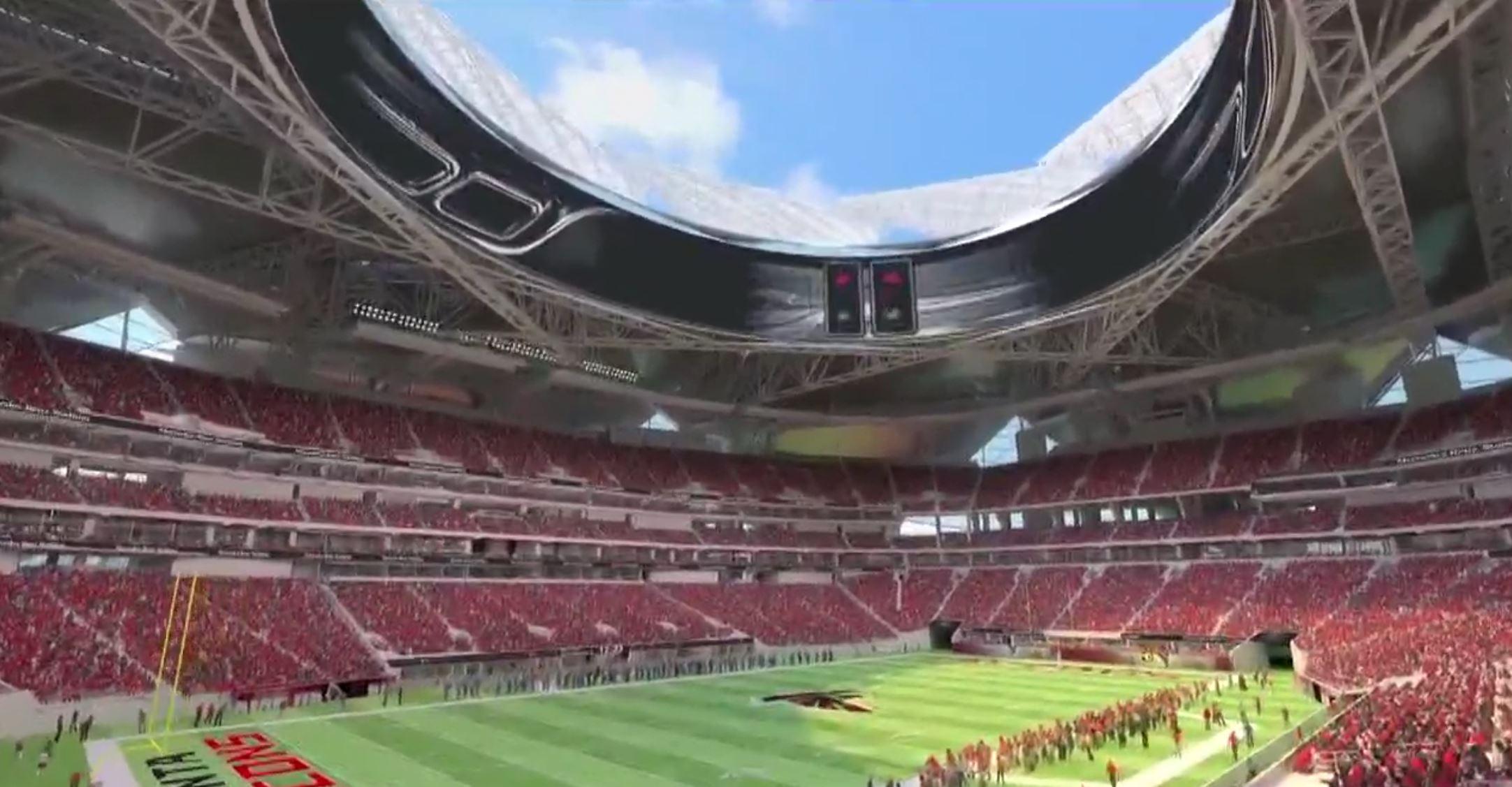 Reports mercedes benz stadium 39 s retractable for Mercedes benz stadium parking atlanta
