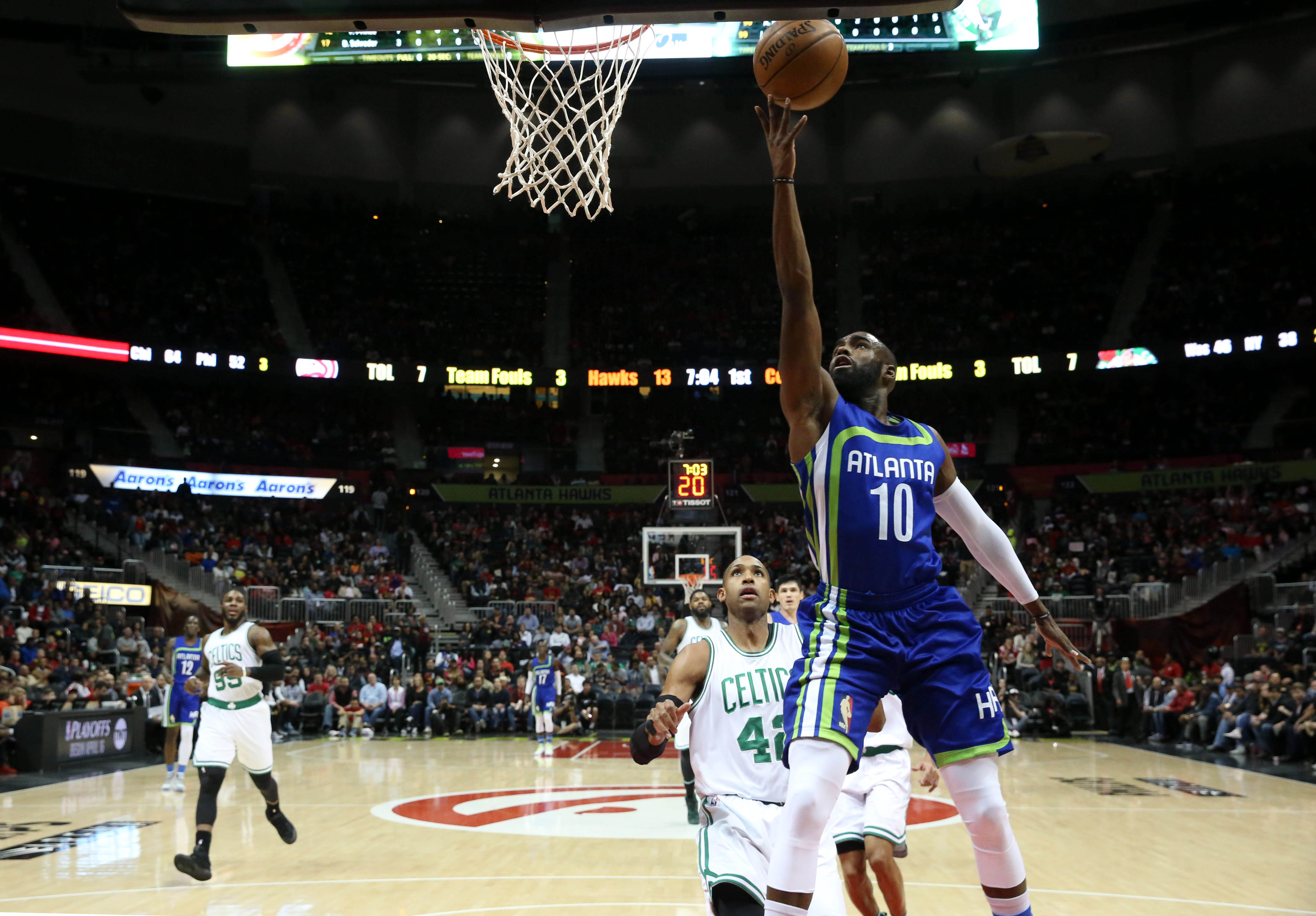 Hibbert and no 6 seed hawks al horford are two of the best centers - Apr 6 2017 Atlanta Ga Usa Atlanta Hawks Guard Tim Hardaway Jr 10 Attempts A Shot Against Boston Celtics Center Al Horford 42 In The First Quarter