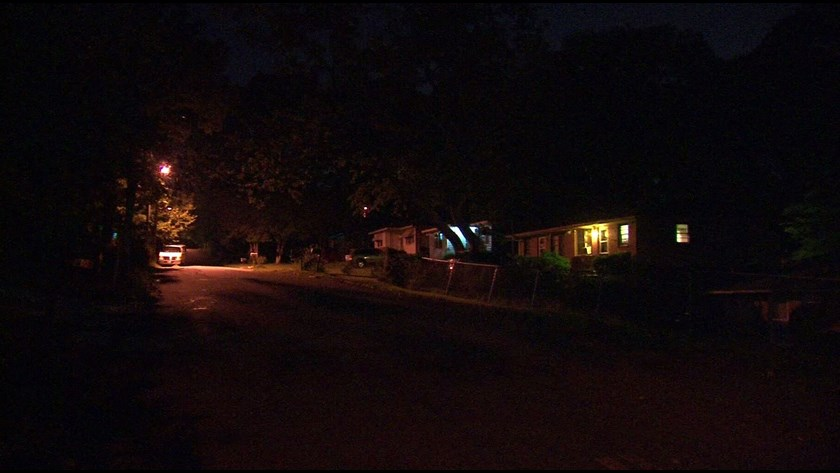 kids watching tv at night. the kindergartner was shot in back of neck on sunday morning northwest atlanta. she inside her home with mother, watching t.v., kids tv at night