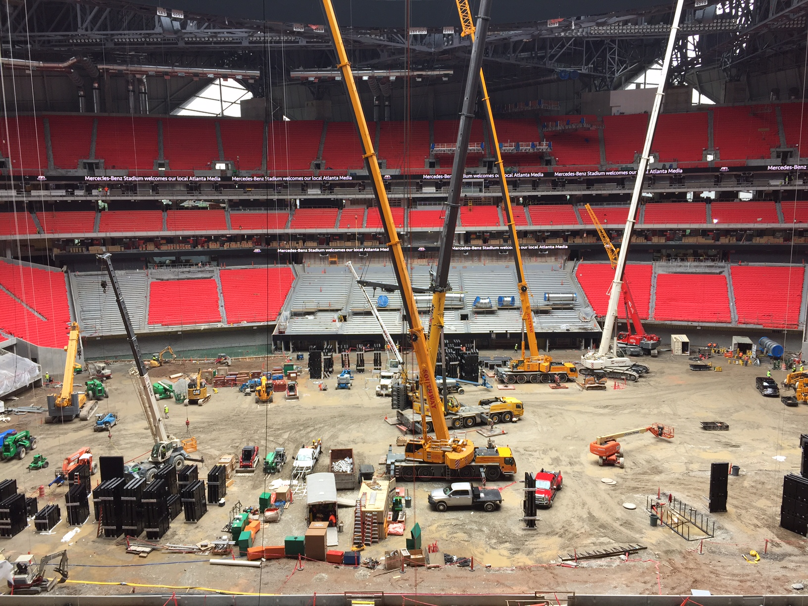 photos mercedes benz stadium sneak peek tour