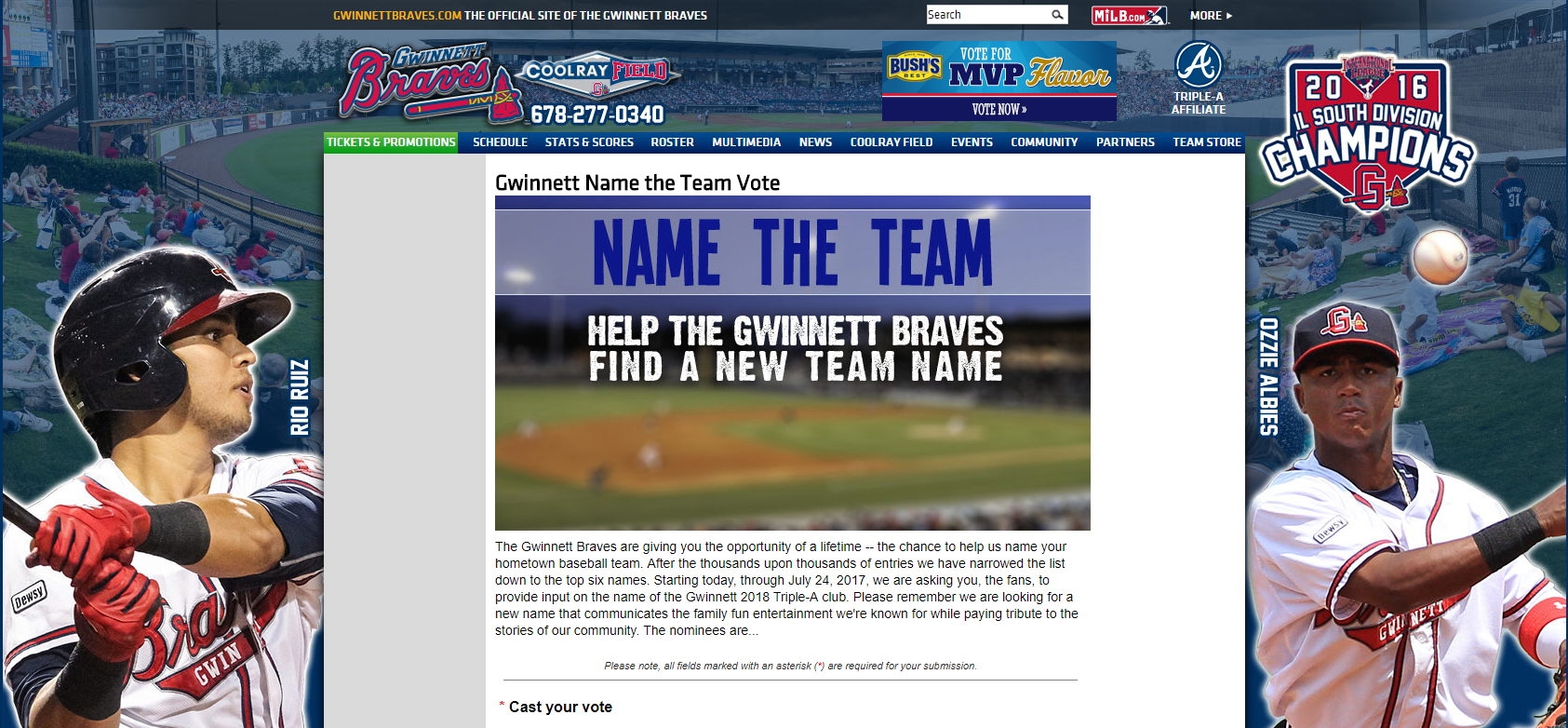 And the final choices for the new Gwinnett Braves team names are... | 13wmaz.com