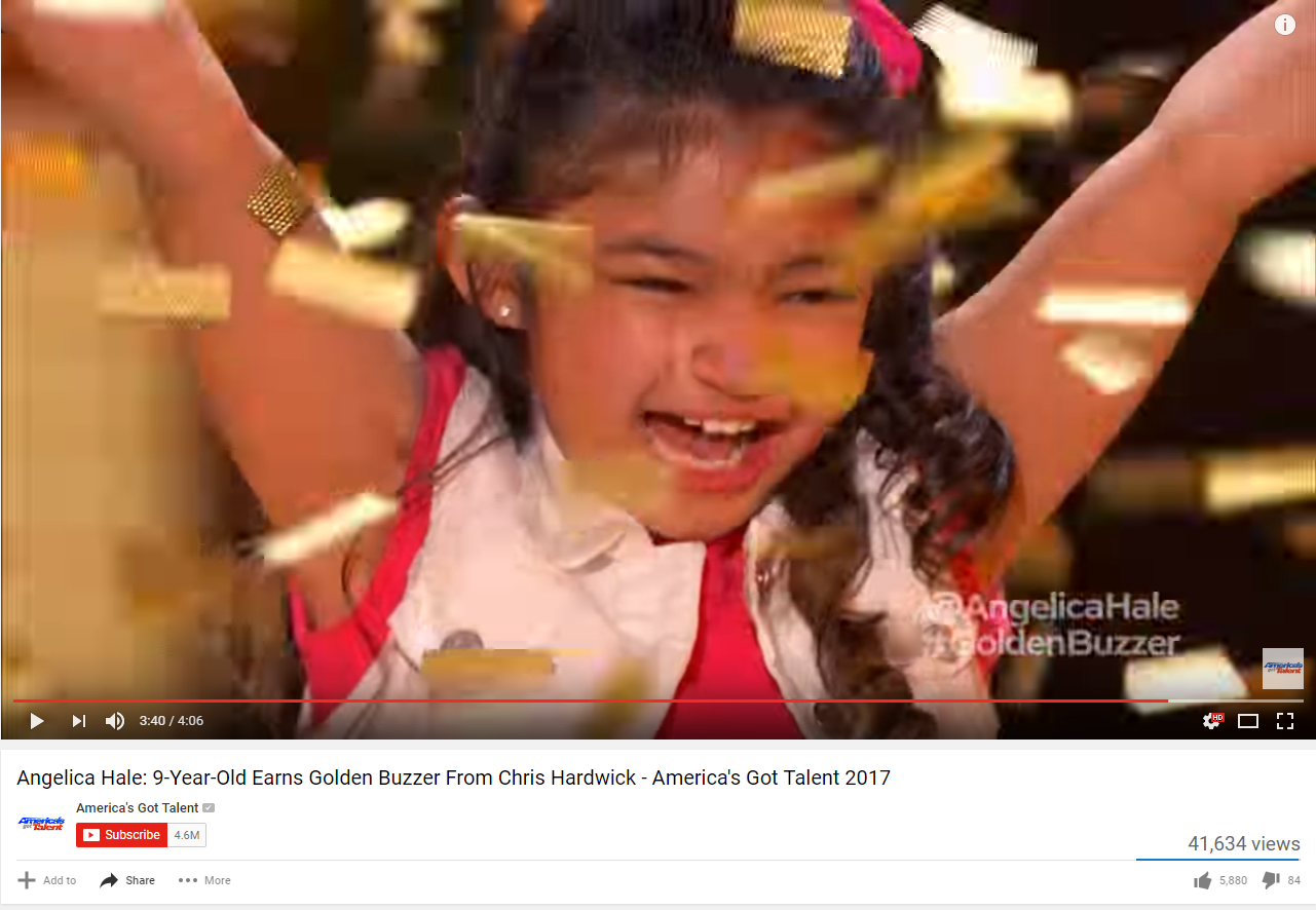Americas got talent 2017 golden buzzer - Johns Creek 9 Year Old Angelica Hale Crushes It Again On Agt Gets Golden Buzzer 13wmaz Com
