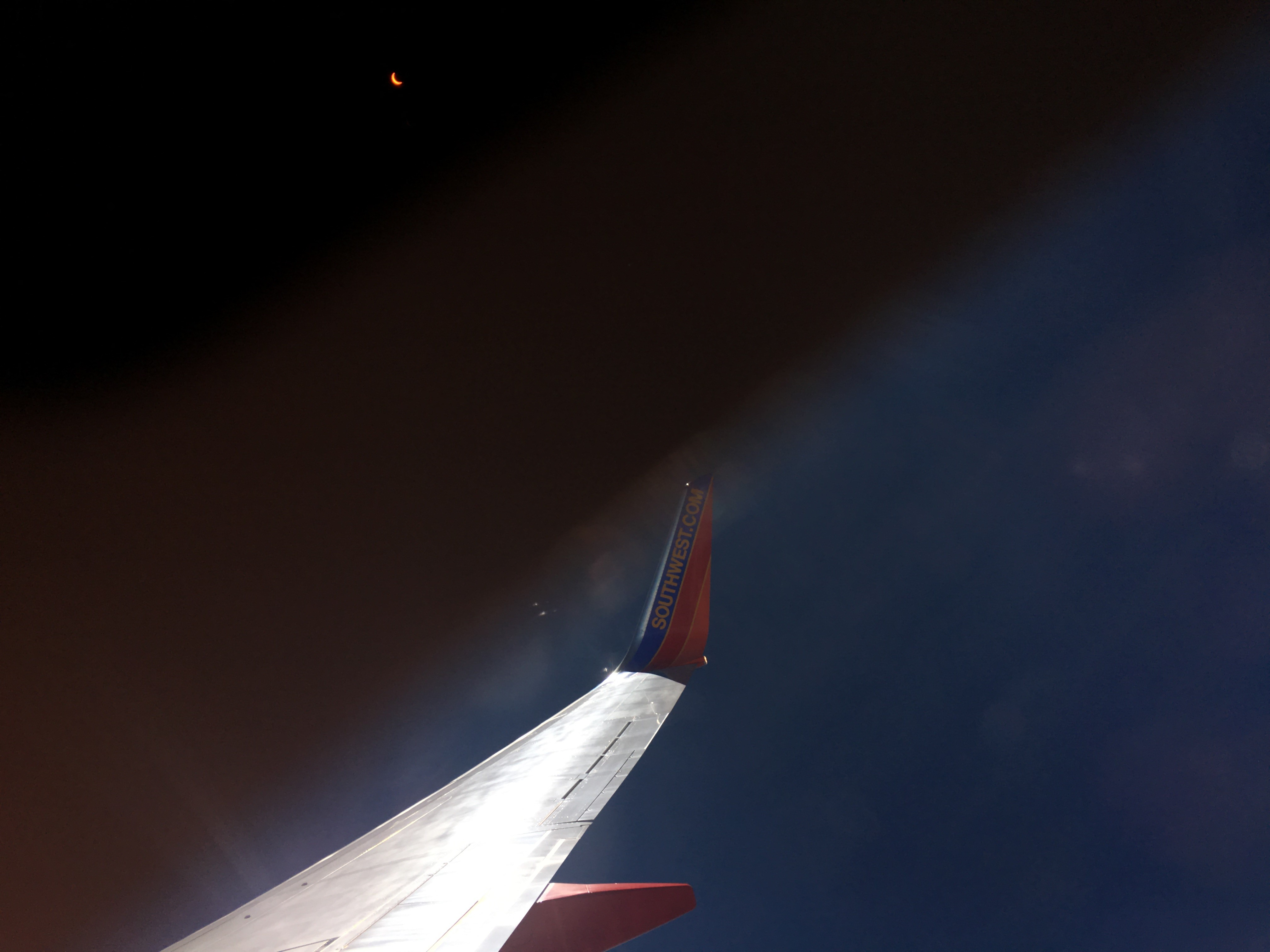 Photos: Airport views of the eclipse