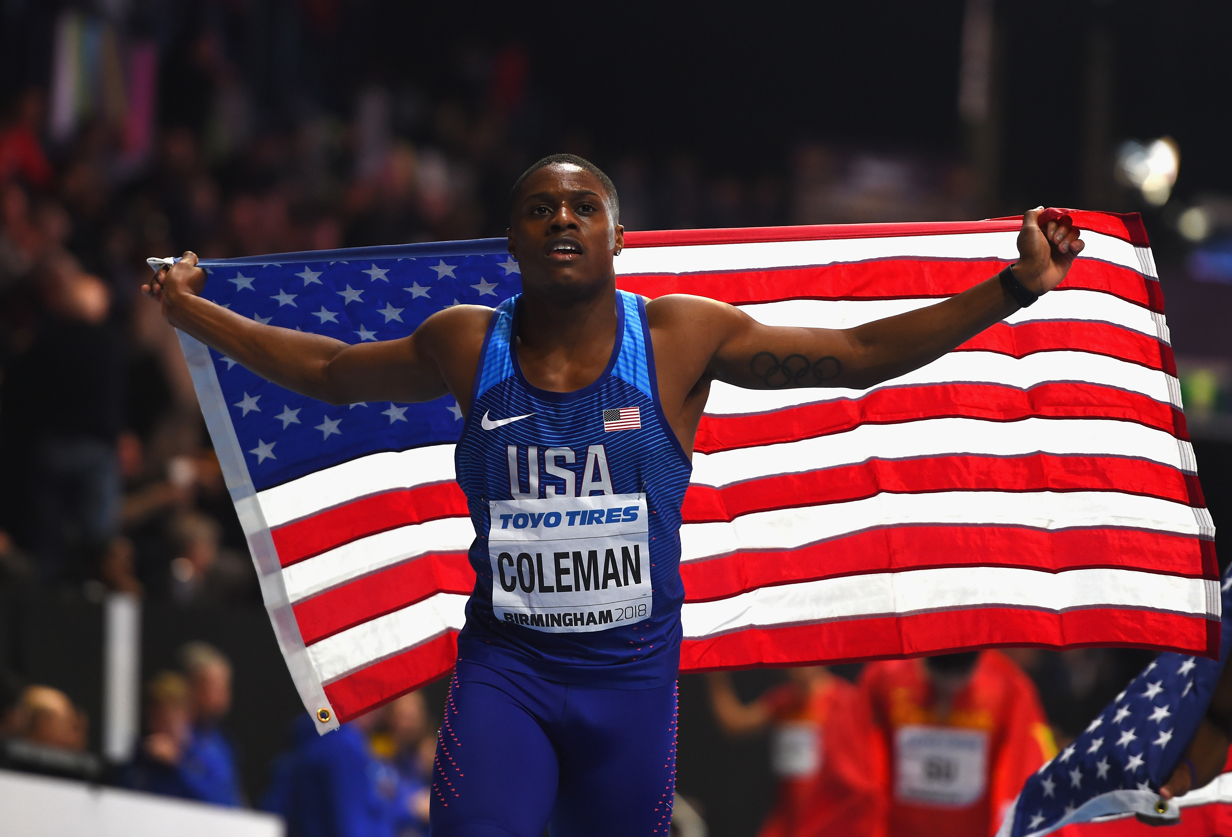 Christian Coleman won his first global gold medal by finishing first in the  60-meter finals at the IAAF World Indoor Championship on Sunday in  Birmingham 00efb113a