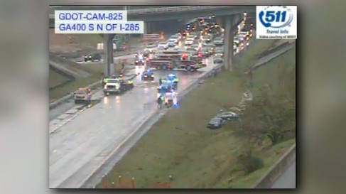 11alive.com | all lanes of ga. 400 northbound blocked by