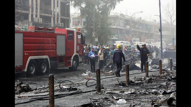 PHOTOS: Suicide bombing hits Baghdad shopping center